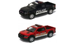 Машинка метал KINSMART KT5365WPR  Ford F-150 SVT (Police/Fire)   в коробці 16*8*7 5с