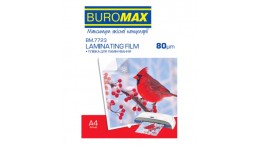 Плівка для ламінування А4 BUROMAX 7723 80мкм 216*303мм 100шт (1)