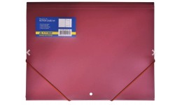 Папка на гумках А4 JOBMAX 3913-05 пластикова червона (1/20)