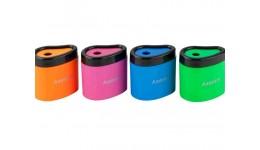 Точилка AXENT 1158 пластик. з контейнером 1 відділ. Neon soft (24)