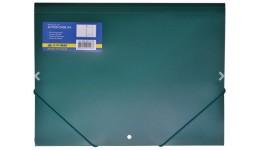Папка на гумках А4 JOBMAX 3913-04 пластикова зелена (1/20)