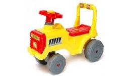 Каталка  Бебі-трактор  ORION лимонна з клаксоном 610x310x450 мм