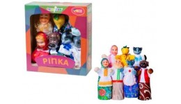 Ляльковий театр В152 РІПКА  (преміум пакування  7 персонажей  книжка)