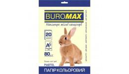 Папір д/друку кольор. А4  20арк BUROMAX  PASTEL кремовий  80г/м2 (1)