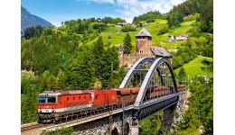 Пазл Касторленд  500 (2462) Поїзд на мосту  47*33 см