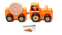 Дерев`яна іграшка  Трактор (CUBіKA)