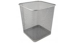 Корзина д/паперів AXENT 2124-03 металева  квадратна 270*300мм СРІБНА (1)