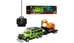 Эл-мобиль FL-1618 (T-7826) EVA ORANGE джип на Bluetooth 2.4G Р/У 2*6V4.5AH мотор 2*25W с MP3 10