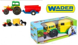 Трактор з причепом в коробці 14 5*12 5*38 5см (Wader)