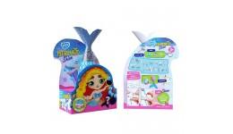 Акриловий живопис за номерами  Дівчина з метеликом  (35*45см) 12 кол фарб ROSA START