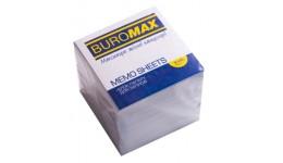 Блок паперу BUROMAX 2219 д/нотаток білий не склеєний 90*90*90мм (1/30)