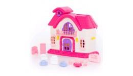 Ляльковий будиночок  Казка  з набором меблів (12 елементів) (в пакеті) 35*20*30см ТМ POLESIE