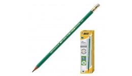 Олівці BIC 8803323 чорнографітові з гумкою  655HB пластиковий  зелений (12/60)