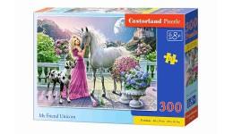 Пазл Касторленд  300 (088) Дівчина та єдиноріг  40*29 см