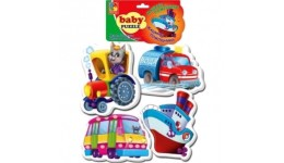 Бебі пазли 1106-78 Машини помічники (Vladi Toys)