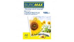 Плівка для ламінування А6 BUROMAX 7774 100мкм 111*154мм 100шт (1)