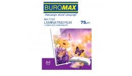 Плівка для ламінування А4 BUROMAX 7722 75мкм 216*303мм 100шт (1)