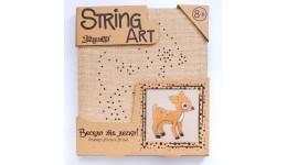 string art  Оленя (20*20 см) зроби картинку з ниток