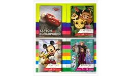 Картон кольоровий ТЕТРАДА 14арк(14кол) А4 Disney (1/20)