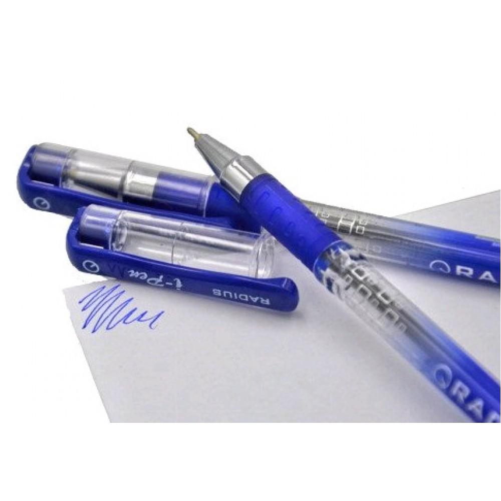 Ручка кулькова RADIUS  I-Pen  синя 0 7мм (50/300)