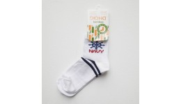 Дитячі шкарпетки DUNA 416 демі  18-20 білі 75%бамбук  23%поліамід  2%еластан