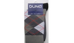 Шкарпетки чоловічі р.29 DUNA 244 темно-сірі 70%бавовна  28%поліамід  2%еластан