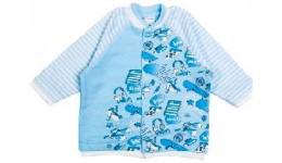 Кофточка для хлопчика. Ніжне  уютне полотно із футера блакитна полоска 80р ТМ ЛЯ ЛЯ
