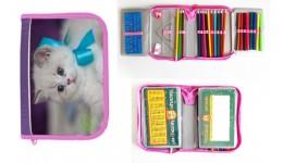 Пенал CLASS 98404 з/наповн. 1-ярус. 2відділ.  Fancy Kitten  (1/12)