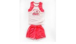 Костюм літній:майка+шорти  Hippic  супрем р.110 корал ТМ РОБІНЗОН