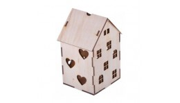 Заготовка  Будиночок з серцями   фанера (18 5х10 5х12 3 см) ROSA TALENT