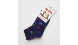 Шкарпетки дитячі р.14 колір темно-синій - 70% бавовна  30% поліамід