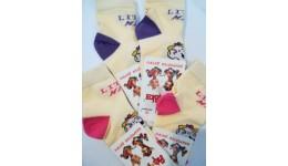 Шкарпетки дитячі р.12 колір МОЛОЧНИЙ - 80% бавовна  16% поліамід  4% еластан