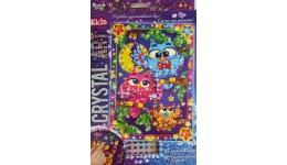 Мозаїка з кристалів  CRYSTAL ART KIDS  09 Сови на гілці ДТ (1/20)