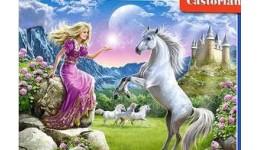 Пазл Касторленд 180(024) Принцеса і єдиноріг  32*23 см