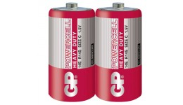 Батарейка GP 14Е-S2  сольова  R14 С   червона