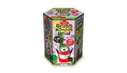 Набір д/пророщування рослини Grass Monsters Head 08 (поливай і спостерігай)+Чарівний Біб(у)(8)Д