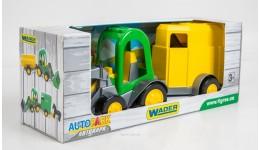 Трактор-багги з ковшем і причепом в коробці 39349(Wader)