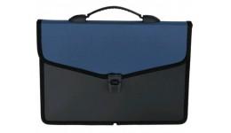 Портфель BUROMAX 3734-02 А4 пласт. на 3 відділ. на замку СИНІЙ (1)