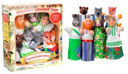 Ляльковий театр В162 СОЛОМ` ЯНИЙ БИЧОК  (преміум пакування  7 персонажей  книжка)