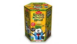 Набір д/пророщування рослини Grass Monsters Head 02 (поливай і спостерігай)+Чарівний Біб(у)(8)Д