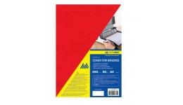 Обкл. д/брошуровання А4 BUROMAX 0580-05 картон.  під шкіру  250мкм (50шт/уп) ЧЕРВОНА (50)
