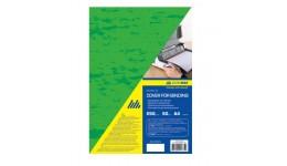 Обкл. д/брошуровання А4 BUROMAX 0580-04 картон.  під шкіру  250мкм (50шт/уп) ЗЕЛЕНА (50)