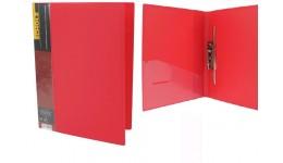 Папка з довг. притиском А4 SCHOLZ  05502 з кишенею червона 700мкн РР (1/20)