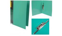 Папка з довг. притиском А4 SCHOLZ  05502 з кишенею зелена 700мкн РР (1/20)