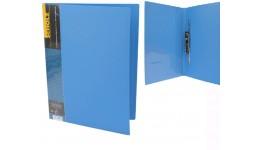 Папка з довг. притиском А4 SCHOLZ  05502 з кишенею синя 700мкн РР (1/20)