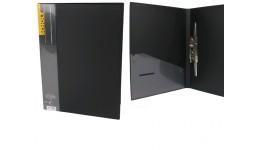 Папка з довг. притиском А4 SCHOLZ  05502 з кишенею чорний 700мкн РР (1/20)