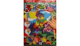 Фреска з піску та глітеру Santart 06 Попугай (1/10) ДТ