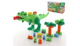 гра «Динозавр» + конструктор (30 елементів) (в коробці) 67x16 5x33см ТМ POLESIE
