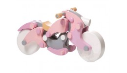 Мотоцикл LM-1 girl-чоппер  з магнітним кріпленням   58 дет. 15*14*24см (CUBіKA)