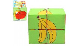 Кубики тканина 4 в 1  Збери картинку  Фрукти   ТМ Розумна іграшка
